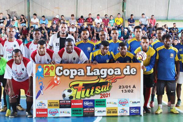 LAGOA DO TO: Atletas dão show de gols na abertura da 2ª Copa Lagoa de Futsal