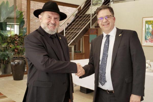 Em reunião com embaixador americano, governador Carlesse apresenta potencialidades do Tocantins