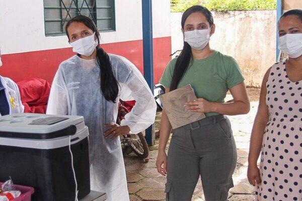 Vacinação para gestantes e pessoas com comorbidades é iniciada em Lagoa do TO