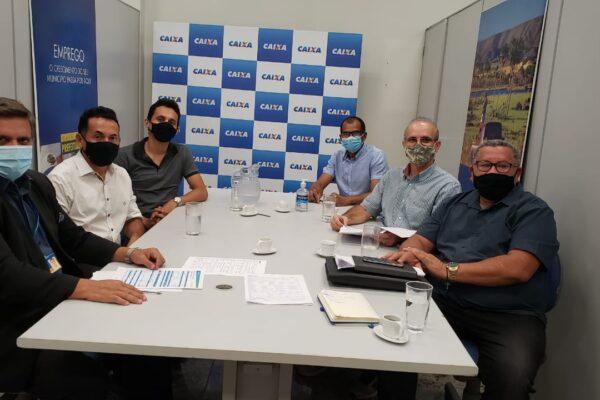 APARECIDA: Prefeito Suzano e equipe visitam Superintendência da Caixa e abordam início de obras