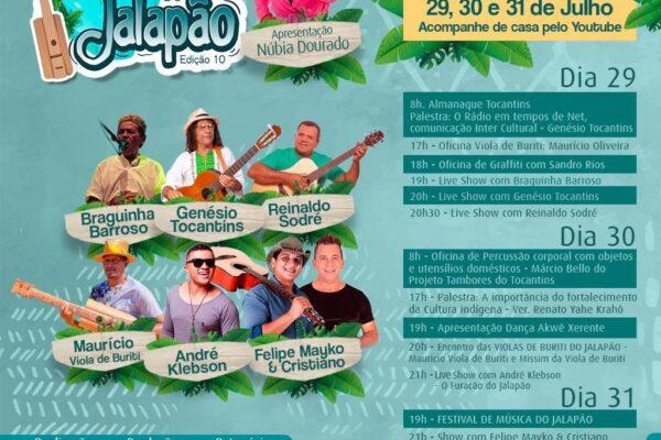 Semana Cultural do Jalapão volta a ser promovida com vasta programação cultural e artística