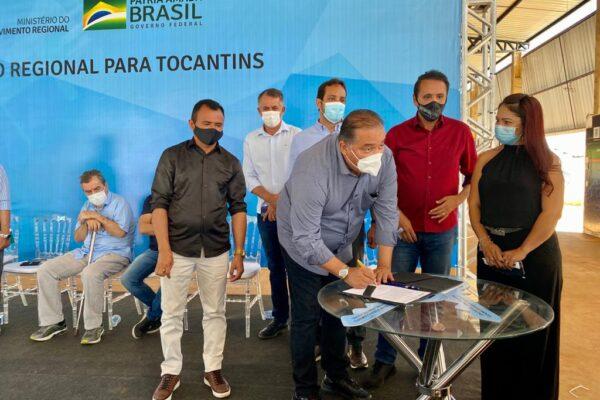 MATEIROS: Prefeito Pastor João participa de evento de liberação de asfalto destinado pelo deputado Gaguim e senador Eduardo Gomes