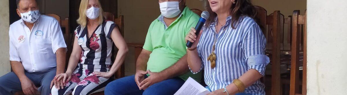Senadora Kátia Abreu vai a Ponte Alta e reafirma seu apoio a Kleber do Sacolão e Juliana