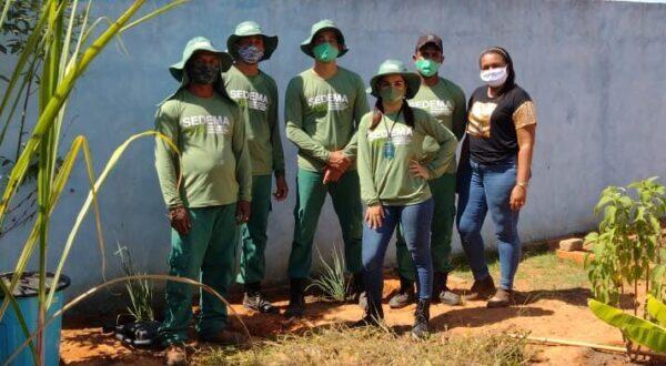 MATEIROS: Secretarias municipais realizam revitalização da horta do Cmei Começo de Vida